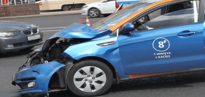 Дорожно-транспортное происшествие на машине BelkaCar